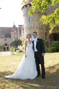 Bride & Groom in the estate at Hattonchatel