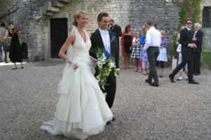 Just married at Hattonchatel church