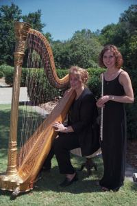 Beautiful sounds of a harp at Hattonchatel wedding