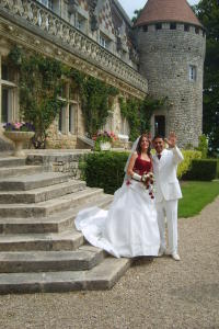 Just married at Hattonchatel, France